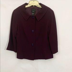 Doncaster  Plum Suit Jacket Size Small